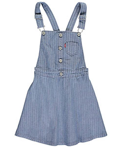 "Levi's Big Girls' ""Denim Stripe"" Jumper (Sizes 7 – 16) - CookiesKids.com"