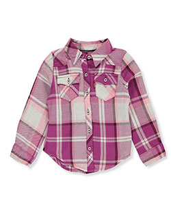 Levi's Little Girls' Toddler Flannel Button-Down (Sizes 2T – 4T) - CookiesKids.com