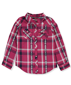 Levi's Little Girls' Flannel Button-Down (Sizes 4 – 6X) - CookiesKids.com