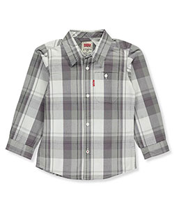 Levi's Little Boys' Toddler L/S Button-Down Shirt (Sizes 2T – 4T) - CookiesKids.com