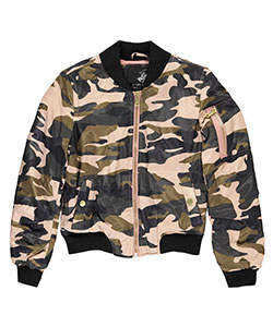 "Beverly Hills Polo Club Big Girls' ""Camo Flight"" Flight Jacket (Sizes 7 – 16) - CookiesKids.com"
