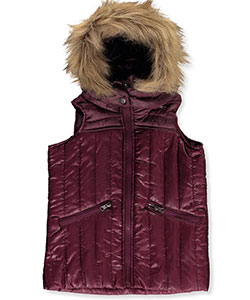 Beverly Hills Polo Club Little Girls' Toddler Insulated Hooded Vest (Sizes 2T – 4T) - CookiesKids.com