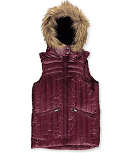 Beverly Hills Polo Club Little Girls' Insulated Hooded Vest (Sizes 4 – 6X) - CookiesKids.com
