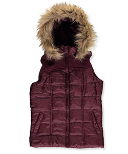 Beverly Hills Polo Club Big Girls' Insulated Hooded Vest (Sizes 7 – 16) - CookiesKids.com