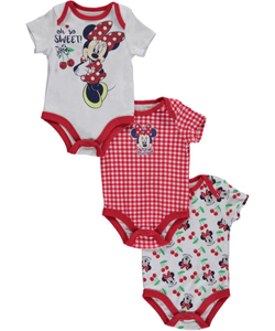 "Minnie Mouse Baby Girls' ""Oh So Sweet!"" 3-Pack Bodysuits - CookiesKids.com"