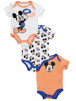 "Mickey Mouse Baby Boys' ""Exclaiming Mickey"" 3-Pack Bodysuits - CookiesKids.com"