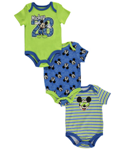 "Mickey Mouse Baby Boys' ""28 Pineapples"" 3-Pack Bodysuits - CookiesKids.com"