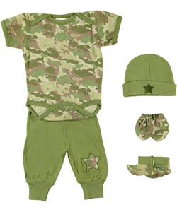 "Mon Cheri Baby ""Camo Star"" 5-Piece Layette Gift Set (Sizes 0M – 3M) - CookiesKids.com"