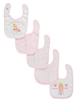 "Precious Moments Baby Girls' ""So Precious, So Sweet"" 5-Pack Bibs - CookiesKids.com"
