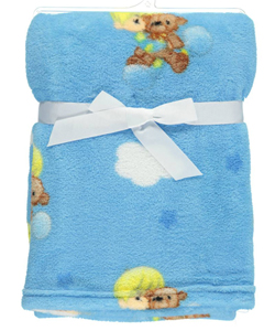 "Precious Moments ""Bedtime Teddy"" Plush Blanket - CookiesKids.com"