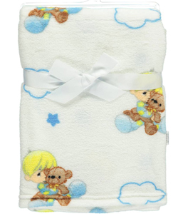 "Precious Moments ""Bedtime Clouds"" Plush Blanket - CookiesKids.com"