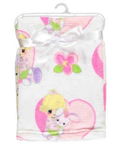 "Precious Moments ""Flowered Bunny"" Plush Blanket - CookiesKids.com"