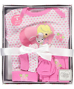 "Precious Moments Baby Girls' ""Heart Bunny"" 5-Piece Layette Gift Set - CookiesKids.com"