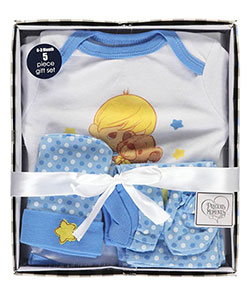 "Precious Moments Baby Boys' ""Star & Teddy"" 5-Piece Layette Gift Set - CookiesKids.com"