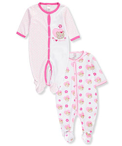 Mon Cheri Baby Baby Girls' 2-Pack Coveralls - CookiesKids.com