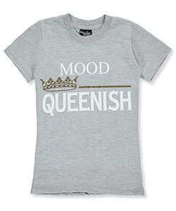"Popular Sports Big Girls' ""Queenish"" T-Shirt (Sizes 7 – 16) - CookiesKids.com"