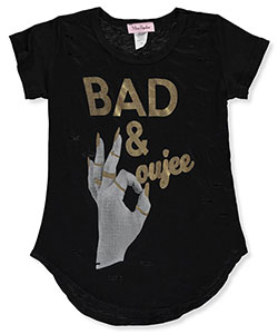 "Miss Popular Big Girls' ""Bad & Boujee"" T-Shirt (Sizes 7 – 16) - CookiesKids.com"