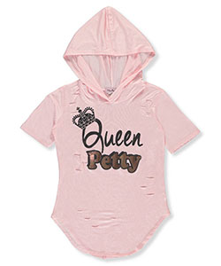 Miss Popular Big Girls' Hooded T-Shirt (Sizes 7 – 16) - CookiesKids.com