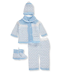 Famous Brand Baby Girls' 4-Piece Knit Layette Set - CookiesKids.com