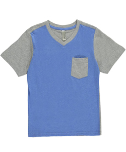 "MTL Apparel Big Boys' ""Ribbed Heather"" V-Neck T-Shirt (Sizes 8 – 20) - CookiesKids.com"