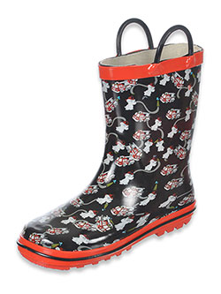 "Boys ""Firehouse Medley"" Rain Boots (Toddler Sizes 5 – 12) - CookiesKids.com"