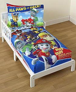 "Paw Patrol ""All Paws on Deck"" 4-Piece Toddler Bedding Set - CookiesKids.com"