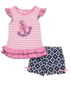 "Nannette Little Girls' ""Sailor Sweet"" 2-Piece Outfit (Sizes 4 – 6X) - CookiesKids.com"