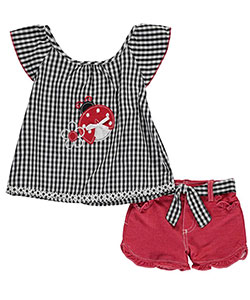 "Nannette Little Girls' ""Ladybug Love"" 2-Piece Outfit (Sizes 4 – 6X) - CookiesKids.com"