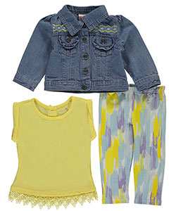"Nannette Baby Girls' ""Studio Art"" 3-Piece Outfit - CookiesKids.com"