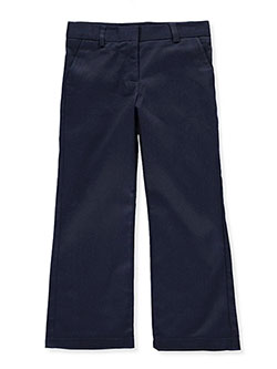 Nautica Little Girls' Flat Front Twill Pants (Sizes 4 - 6X) - CookiesKids.com