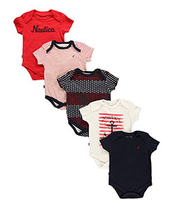 "Nautica Baby Girls' ""North Star"" 5-Pack Bodysuits - CookiesKids.com"