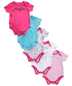 "Nautica Baby Girls' ""Sea Sights"" 5-Pack Bodysuits - CookiesKids.com"