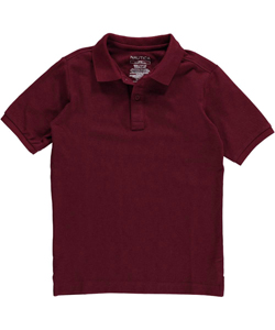 Nautica Little Boys' S/S Pique Polo (Sizes 4 - 7) - CookiesKids.com