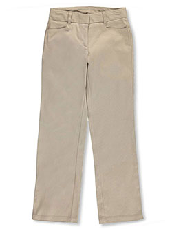 "Nautica Big Girls' ""Beveled Pockets"" Flat Front Twill Pants (Sizes 7 – 16) - CookiesKids.com"