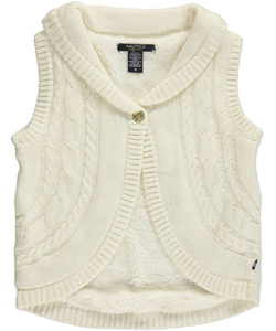 "Nautica Little Girls' ""Cable Down"" Shrug (Sizes 4 – 6X) - CookiesKids.com"