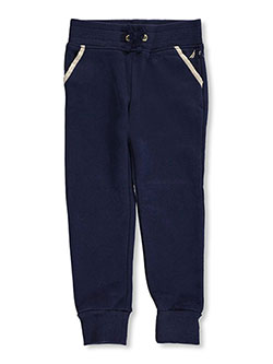 "Nautica Little Girls' ""Gilded Outline"" Joggers (Sizes 4 – 6X) - CookiesKids.com"