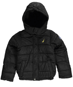 "Nautica Little Boys' ""Anchor Arm"" Insulated Jacket (Sizes 4 – 7) - CookiesKids.com"