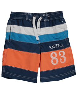"Nautica Little Boys' ""Tidepool"" Boardshorts (Sizes 4 – 7) - CookiesKids.com"