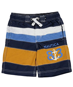 "Nautica Little Boys' ""Tidepool"" Boardshorts (Sizes 4 – 7X) - CookiesKids.com"