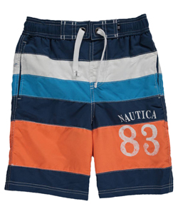 "Nautica Big Boys' ""Tidepool"" Boardshorts (Sizes 8 – 20) - CookiesKids.com"