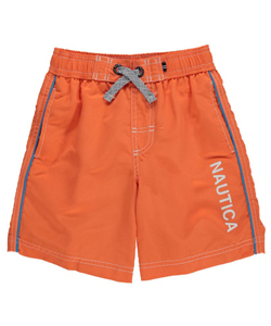 "Nautica Little Boys' ""Side Piping"" Boardshorts (Sizes 4 – 7) - CookiesKids.com"