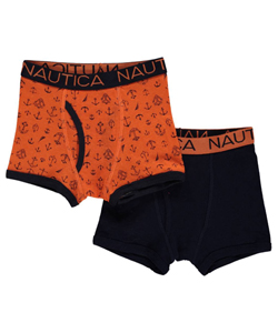 "Nautica Little Boys' ""Solid & Anchors"" 2-Pack Boxer Briefs (Sizes 4 – 7) - CookiesKids.com"