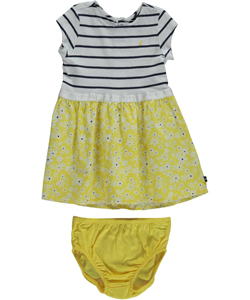 "Nautica Baby Girls' ""Poplin Daisies"" Dress with Diaper Cover - CookiesKids.com"