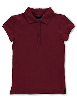 Nautica Big Girls' Knit Polo with Picot Collar (Sizes 7 – 16) - CookiesKids.com
