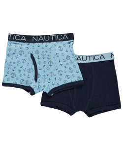 "Nautica Little Boys' Toddler ""Fancy Anchors"" 2-Pack Boxer Briefs (Sizes 2T – 4T) - CookiesKids.com"