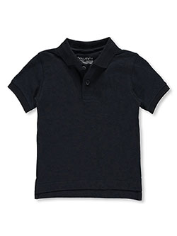 Nautica Little Boys' School Uniform Pique Polo (Sizes 4 – 7) - CookiesKids.com