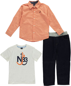 "Nautica Little Boys' Toddler ""Lineup"" 3-Piece Outfit (Sizes 2T – 4T) - CookiesKids.com"