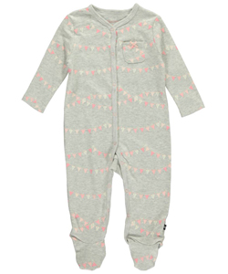 "Nautica Baby Girls' ""Banner Anchor"" Footed Coverall - CookiesKids.com"