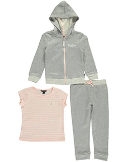 "Nautica Little Girls' Toddler ""Soft Stitch"" 3-Piece Outfit (Sizes 2T – 4T) - CookiesKids.com"
