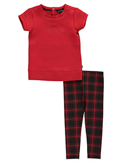 "Nautica Little Girls' Toddler ""Plaid Shift"" 2-Piece Outfit (Sizes 2T – 4T) - CookiesKids.com"